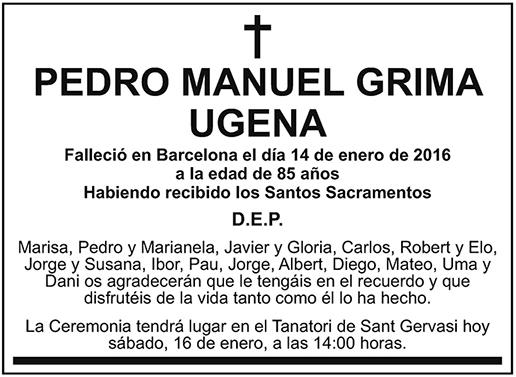 Pedro Manuel Grima Ugena