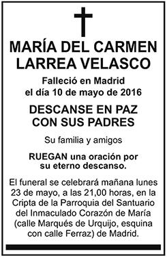María del Carmen Larrea Velasco