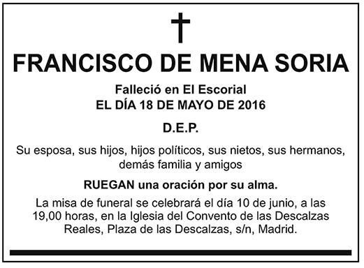 Francisco de Mena Soria
