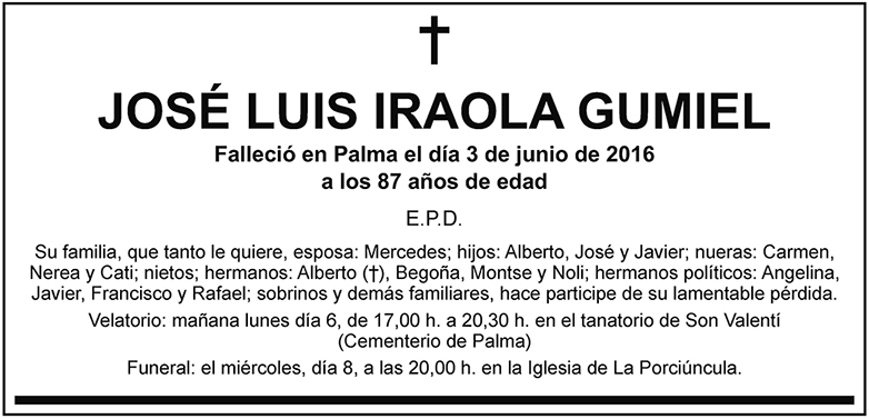 José Luis Iraola Gumiel