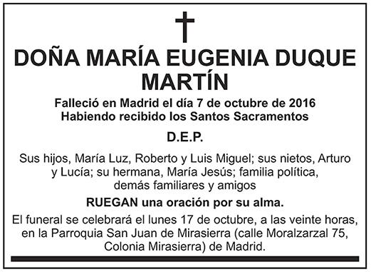 María Eugenia Duque Martín