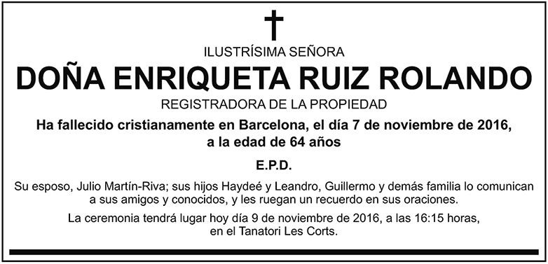 Enriqueta Ruiz Rolando