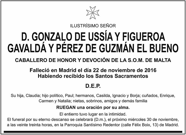 Gonzalo de Ussía y Figueroa Gavaldá y Pérez de Guzmán El Bueno