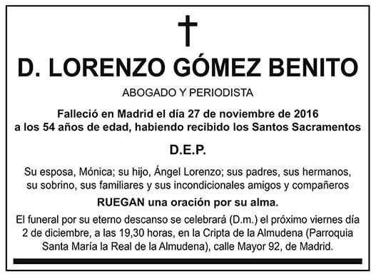 Lorenzo Gómez Benito