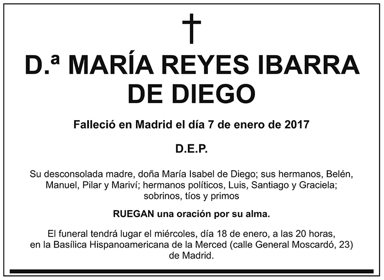 María Reyes Ibarra de Diego