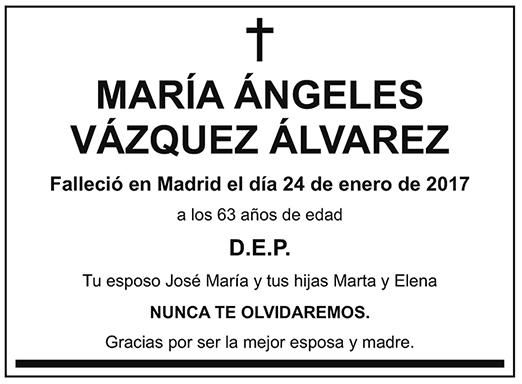 María Ángeles Vázquez Álvarez