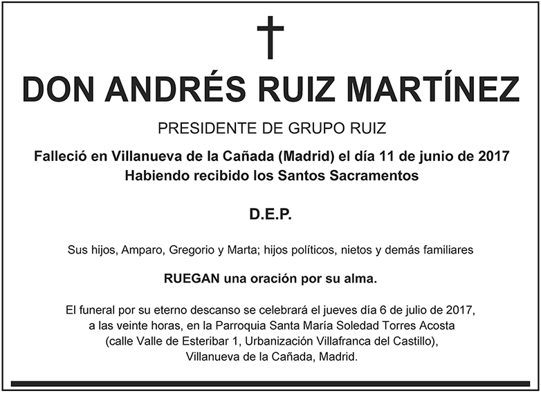 Andrés Ruiz Martínez